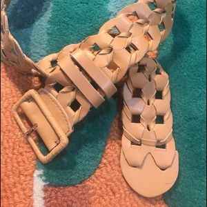 CHICOS BRAIDED LEATHER BELT